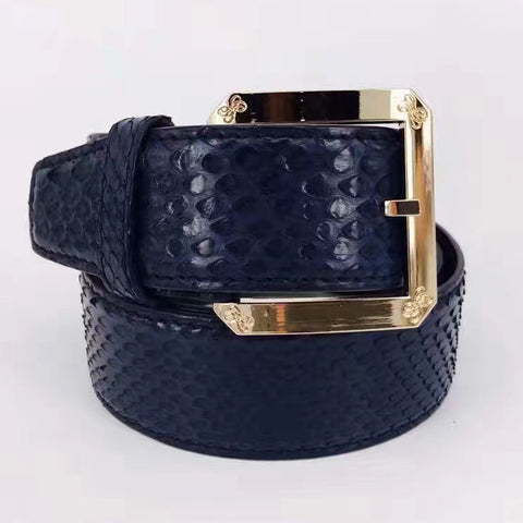 snakeskin leather male business casual strap