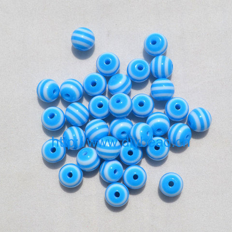 Resin Stripe Beads