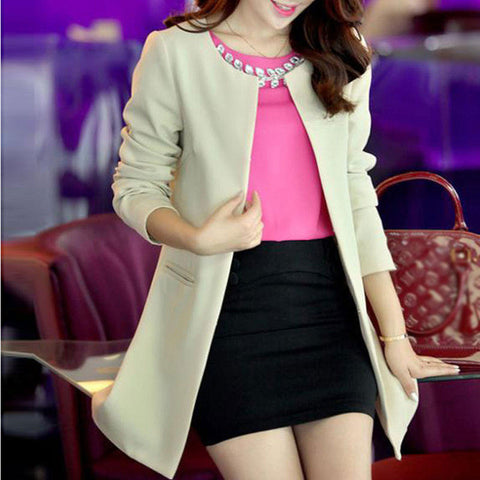 Solid Casual Women Jackets
