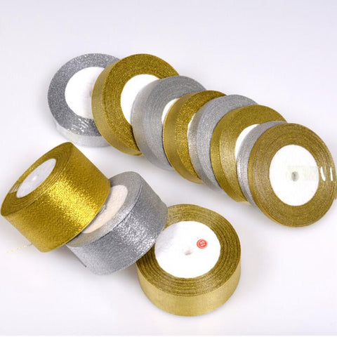 Handmade Gold and Silver Ribbon