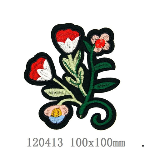 Mulity Red Flowers  Patches