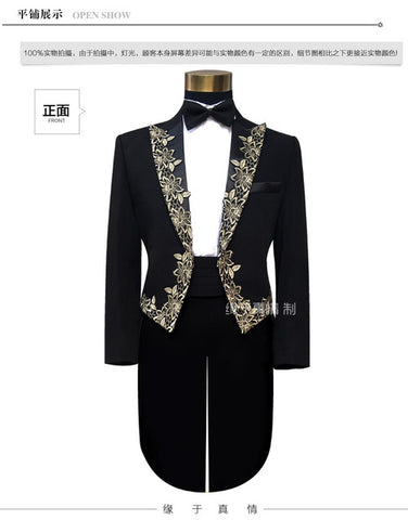 (jacket+pants) suit set prom over the national male costume stage blazer wedding dress trousers party formal outfit tuxedo show