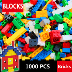 1000 Pcs / 500 Pcs Building Bricks Set City DIY Creative Bricks Toys For Child Educational Building Block Bulk Compatible lepin
