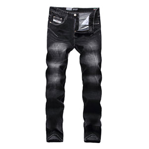 Casual Dsel Brand Jeans Men Slim Fit Denim Thin Stretch Solid Black Jeans Trousers Men`s Skinny Jeans Elastic V702