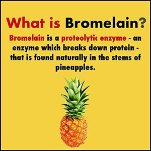 Bromelain Digestive Enzyme- High Concentrate | 2400 GDU/g | 500 mg | 60 Veg. Capsules - HealthyHey