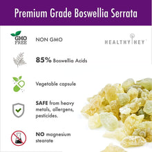 Boswellia Serrata Extract (85% Boswellic Acids) 600 mg 120 Vegetable Capsules - Non Synthetic - HealthyHey