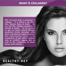 HealthyHey Collagen Gold Series with Hyaluronic Acid, Biotin 10000mcg & Vitamin C - No Smell and Sugar-Easy to Mix-for Skin, Hair & Nails,200gm(Orange) - HealthyHey