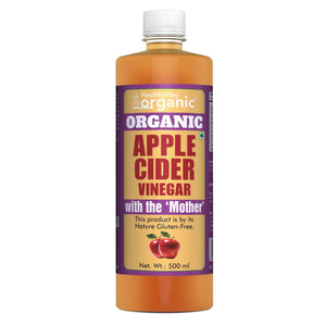USDA Organic Apple Cider Vinegar with The Mother - USDA Certified Organic - Raw & Gluten Free - All Natural - 500ml - HealthyHey