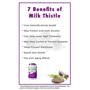Milk Thistle Extract 600 mg, 120 Vegetable Capsules | 25:1 (Silymarin Marianum) - Liver Health Supplement - HealthyHey