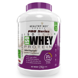 ISO Whey Protein - ISOReal (Produced in USA) - 90% Protein with Digestive Enzymes - Designed for Muscle Enhancement