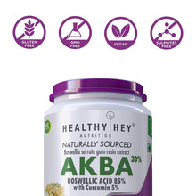AKBA with 85% Boswellic Acid & Curcumin - 100% Natural - Joint Health Supplement - 350mg - 60 Veg Capsules