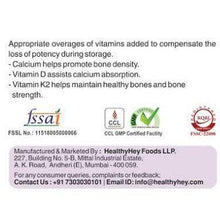 Calcium with D3 & K2- Mk7 - Bone Health Complex - 190mg