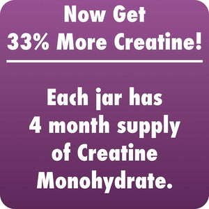 HealthyHey Sports Creatine Monohydrate 400gm - 133 Servings