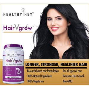 HairVgrow - Natural Hair Growth Formula Supplement - 60 Veg. Capsules - HealthyHey