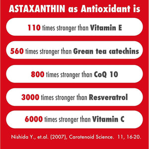 HealthyHey Nutrition Astaxanthin 4mg - Naturally Sourced from Algae - Non-Synthetic - Support Healthy Ageing - 60 Veg Capsules (60) - HealthyHey