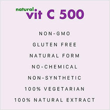 Natural Vit C 500 - Natural Vitamin C 500mg sourced from Acerola Cherry Extract Powder - Support Immunity - 100gm Powder (Unflavoured)
