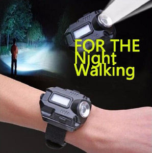 Tactical LED Wrist Watch Rechargeable Flashlight XPE Q5 R2