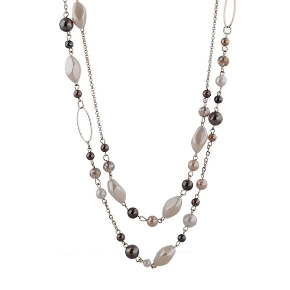 Natural Stone Beads Necklace - VS STATIONS