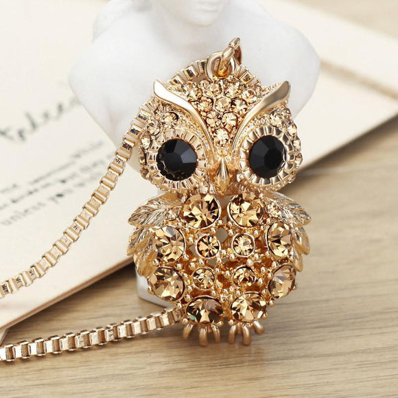 Fashion Owl Long Sweater Chain Necklaces - VS STATIONS