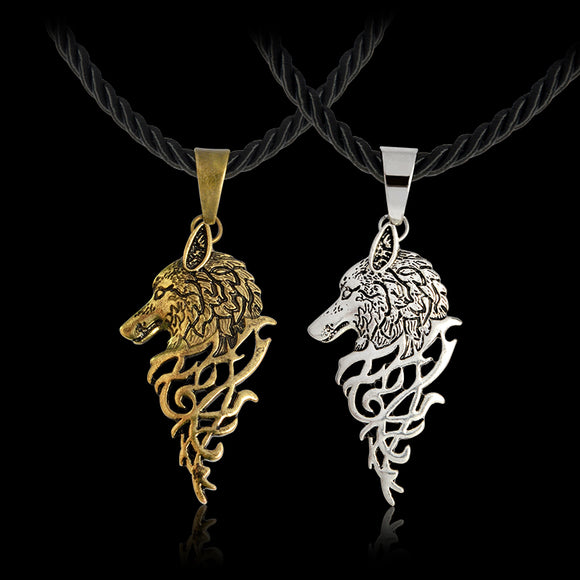 Nordic Viking Wolf Men Necklace - VS STATIONS