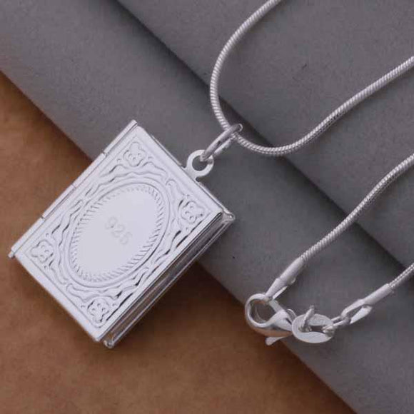 New Fashion Silver Plated Jewelry Book Necklaces & Pendants - VS STATIONS