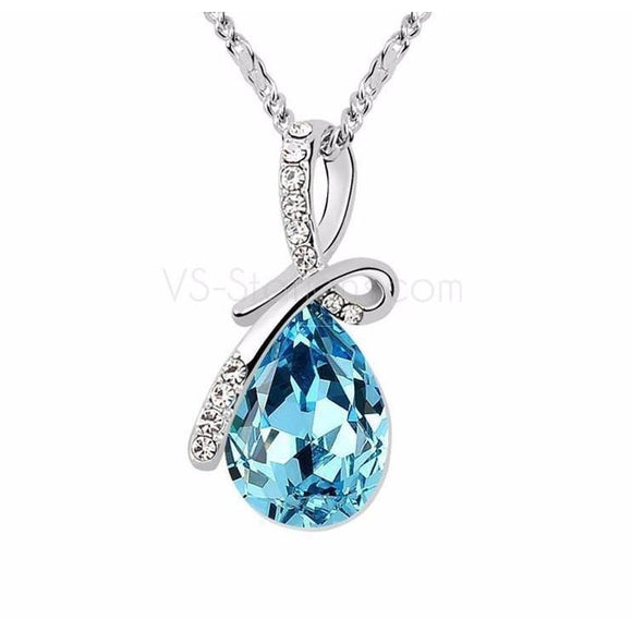 SWAROVSKI ELEMENTS crystal pendant necklace for 016 women gift - VS STATIONS