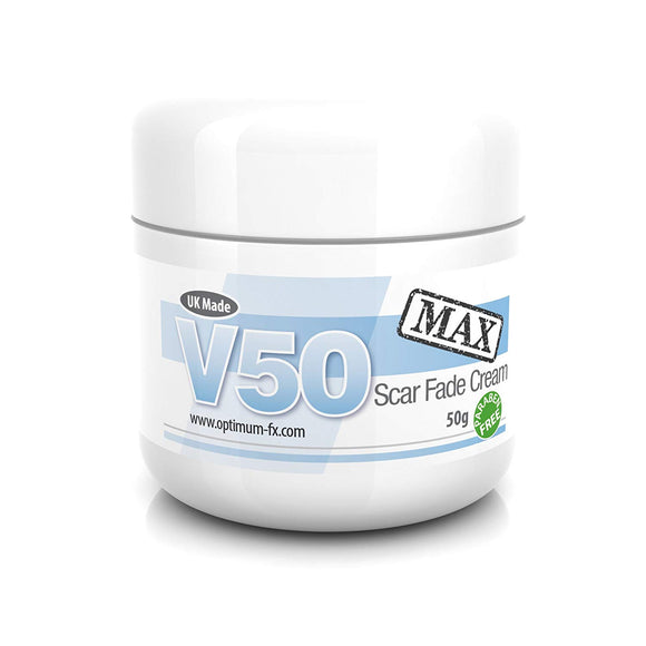 V50 MAX Scar Fade Cream DOUBLE STRENGTH Treat New and Old Scars Use Anywhere on Your Body Acne Scars Facial Blemishes Dark Spot Treatment 50 g