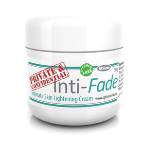 Inti-Fade Intimate Skin Lightening Cream Underarm Breast Anal Vaginal Bleaching UK Made - Paraben and Cruelty Free – 50 grams