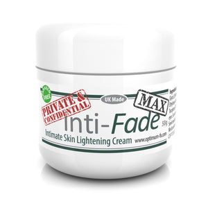 Inti-Fade MAX DOUBLE STRENGTH Intimate Skin Lightening Cream UK Made - Paraben and Cruelty Free – 50 grams