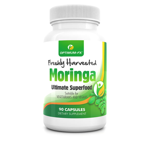 MORINGA Capsules Premium Raw and Pure Moringa Olefeira Natural Detox 90 Capsules Vegetarian Safe