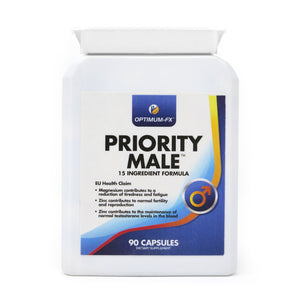 Priority Male Supplement including Magnesium, L-Arginine, Fenugreek, Maca Extract, Zinc, Ginkgo Biloba, Garlic Extract and Korean Ginseng - 50% Extra FREE (90 Capsules for the Price of 60) – Money Back Guarantee