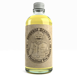 Sergeant Stanley's 'No Cuts' Pre-Shave Oil UK Made With Natural And Organic Ingredients 100ml