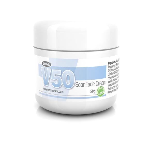 V50 Scar Fade Cream Treat New and Old Scars Acne Scars Blemishes & Dark Spot Treatment Face / Body