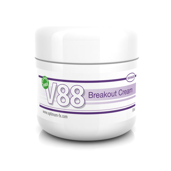 V88 Breakout Cream with Salicylic Acid for Spots Blackheads Blemishes Pimples Safe on Acne 50 grams