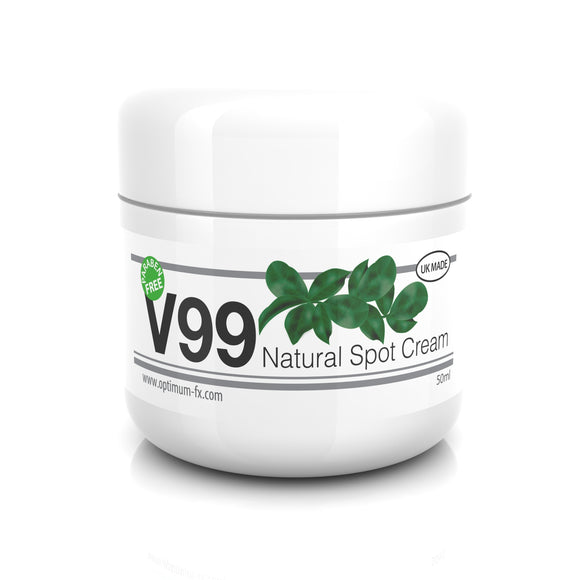 V99 Natural Spot Cream Treatment for Blackheads Sebum Control Milia Blemishes Oily and Problem Skin - Antibacterial Retinol Like Effects -Suitable and Safe for those Prone to Acne – 50g