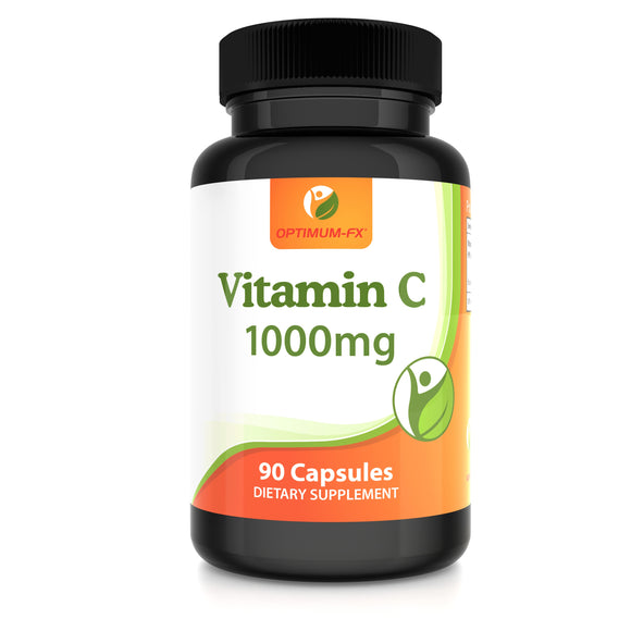 Vitamin C 1000mg Capsules - Ascorbic Acid - Maintenance of Normal Immune System 90 Vegetarian Caps