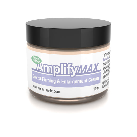 Amplify MAX Enhanced Breast Firming Cream Works In 30 Days 11 Ways To A Fuller Firmer Bust FAST UK Made With Natural And Organic Ingredients - Paraben and Cruelty FREE - 50ml