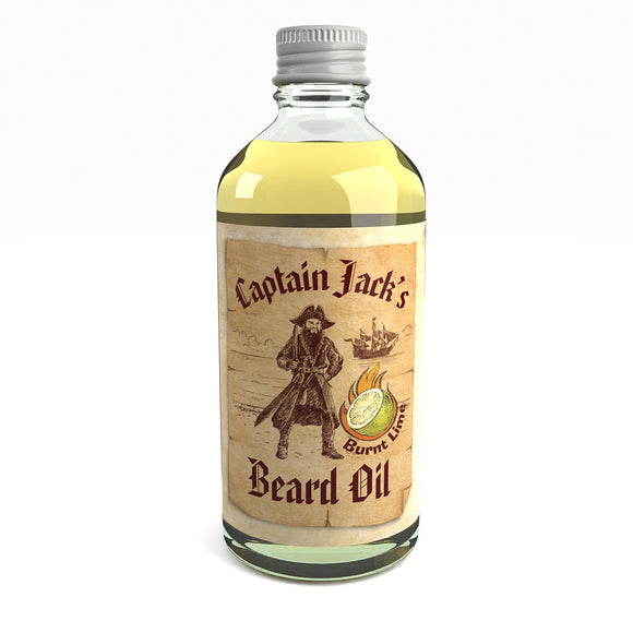Captain Jack's Pirate Beard Oil Conditioner Limited Edition Burnt Lime 100 Milliliter