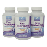 Keto Electrolytes Ketogenic Diet Aid with Sodium Potassium Calcium Magnesium Vitamin C x 120 900mg Tablets