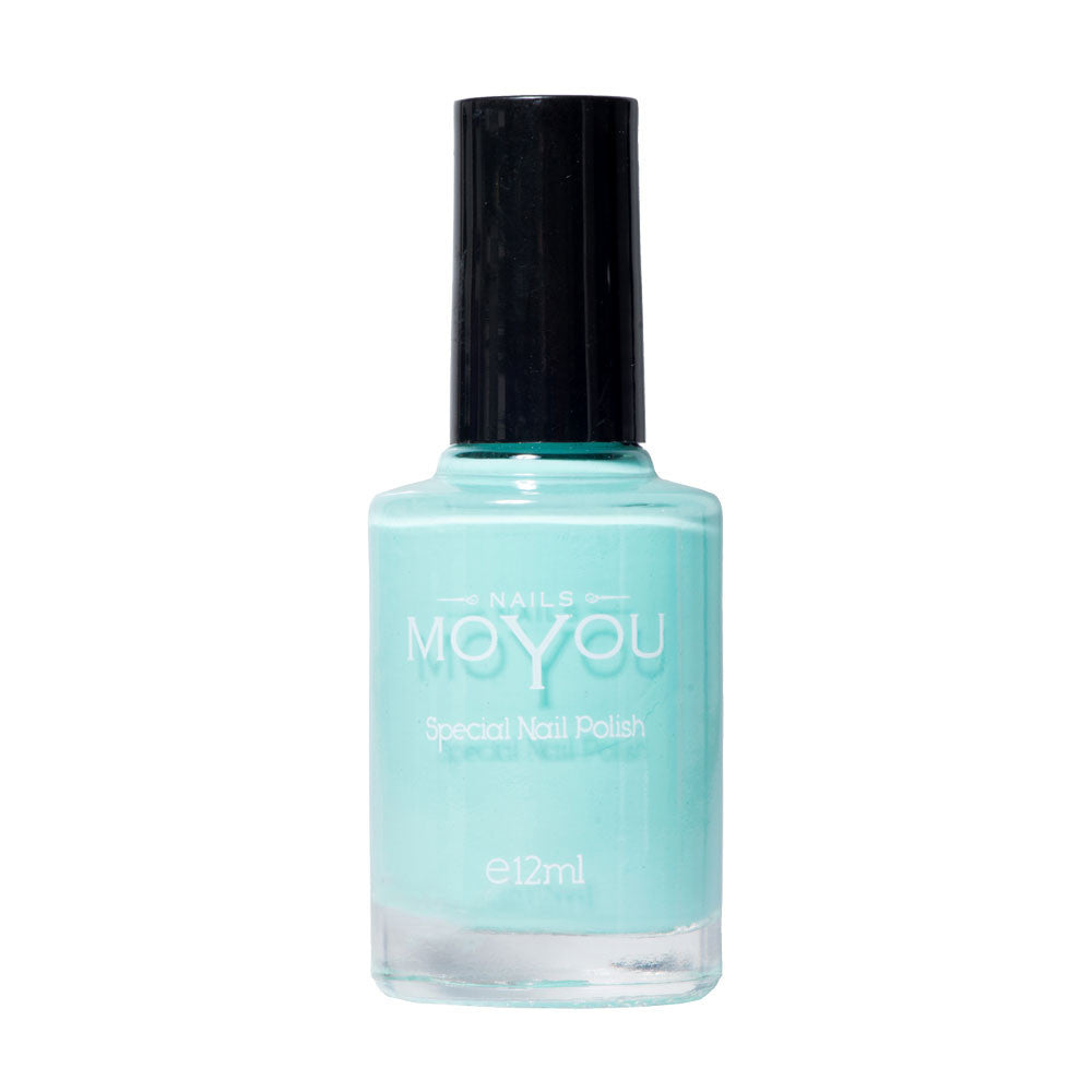 Powder Blue Stamping Nail Polish by MoYou Nail Fashion