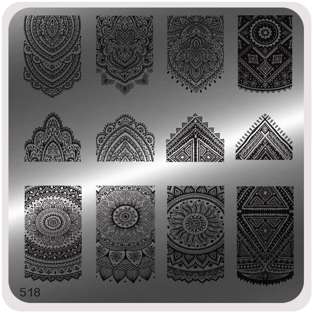 MoYou Nail Fashion Mandala Collection Stamping Image Plate - 518