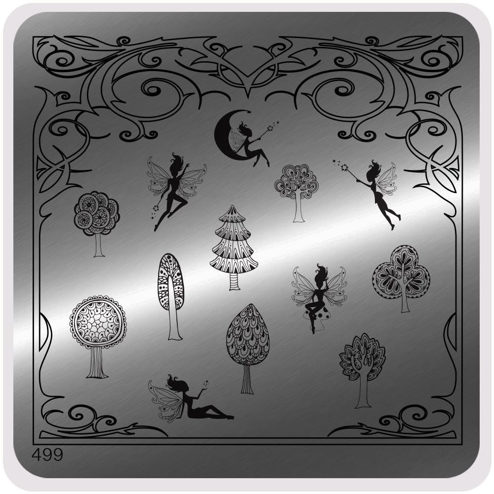 MoYou Nail Fashion Tropical Collection Stamping Image Plate - 499
