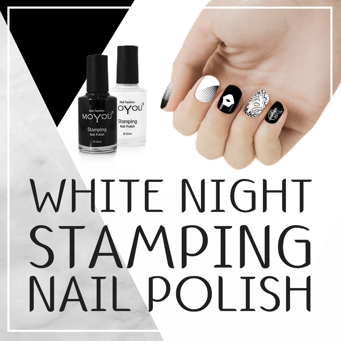 MoYou Nail Fashion White Night Stamping Nail Polish