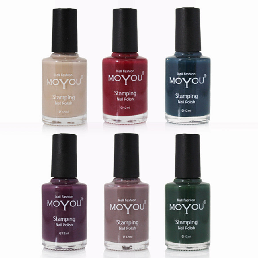 MoYou bundle of 6 nail polishes Limited Edition