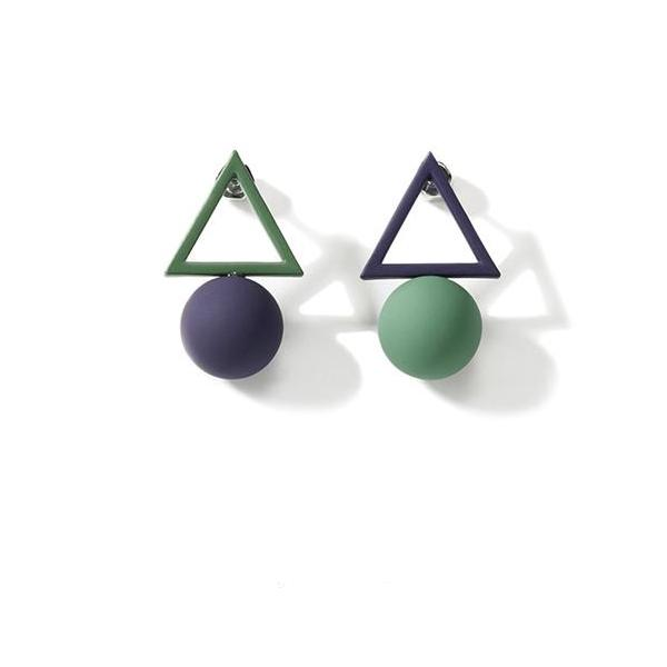 CHIC NYC Simple Triangle Stud Earrings Female 2019