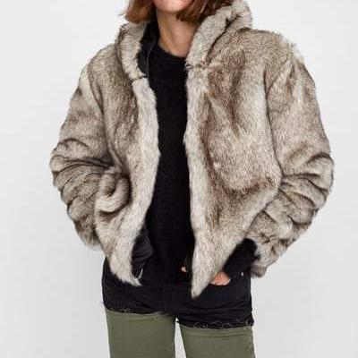 CHIC NYC Faux Fur Jacket