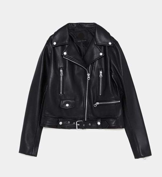 CHIC NYC Faux Leather Zippered Jacket