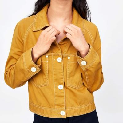 CHIC NYC Jacket With Contrasting Topstitching