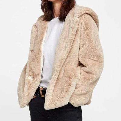 CHIC NYC Hooded Faux Fur Jacket