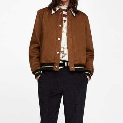 CHIC NYC Faux Suede Bomber Jacket